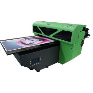 a2 liten format UV flatbed skriver med 1 stk dx5 skrivehodet